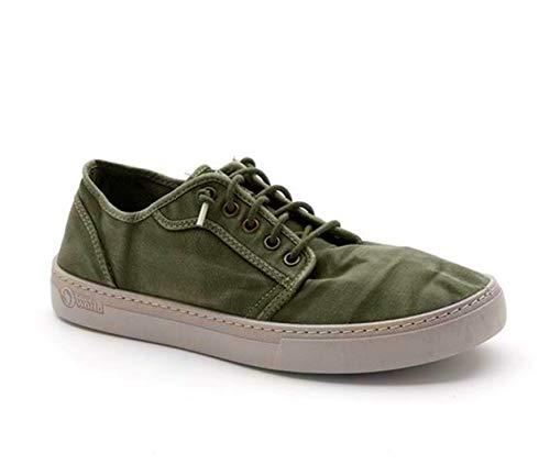 Natural World Eco -6602E Natural World Herren Sneaker – 100% EcoFriendly – hergestellt in Spanien, - Khakigrün - Größe: 40 EU