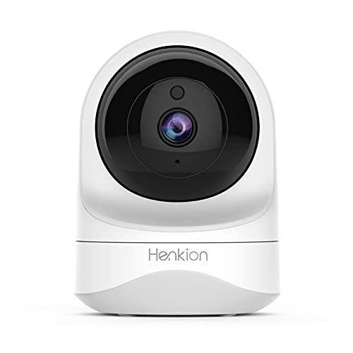 Henkion WiFi Überwachungskamera, 1080P Baby Monitor Indoor Kamera Schwenk/Neigen Home IP Kamera, IR Nachtsicht, 2-Wege-Audio, Bewegungserkennung, funktioniert mit Alexa, Smart Wireless Cam für Kinder Haustier Nanny Kamera