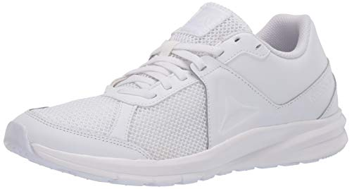 Reebok Men's Endless Road PR Running Shoe, White/White/White, 14 M US