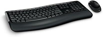 Teclado E Mouse Sem Fio Comfort Usb Preto Microsoft - PP400005