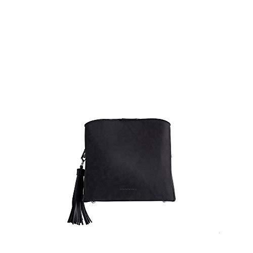PACO MARTINEZ | Bolso Bandolera combinada Borla Color Negro | 21x23x9 | Pequeño