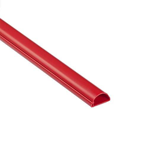 D-Line 1M3015R Mini Kabelkanal zur Kabelführung, Kabelleiste - 30x15 mm, 1 m Länge - Rot