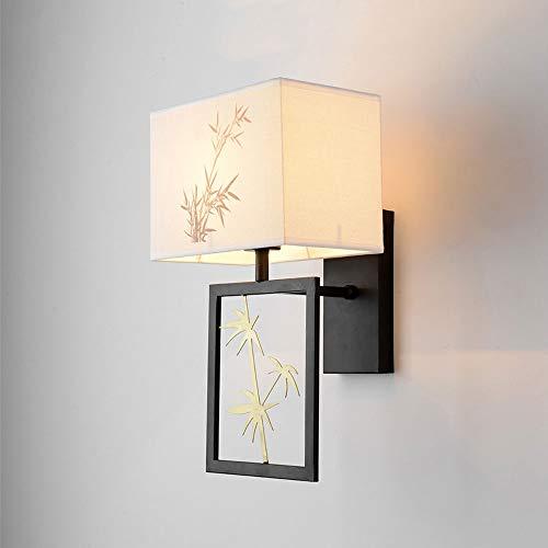 Dicai Impresión China Luces de Pared de Tela Creativo Retro Hierro Arte Colgante lámpara de Pared de Gama Alta E27 Edison Simple 1-luz jardín balcón Fila...