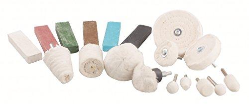 Blue Spot Tools Aluminio Kit de Pulido de Fieltro Compuesto de fregona pulidora Juego de Ruedas de Acero Giratorio