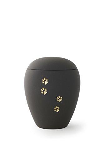 Elegante Haustier-Urne mit Pfotenspuren
