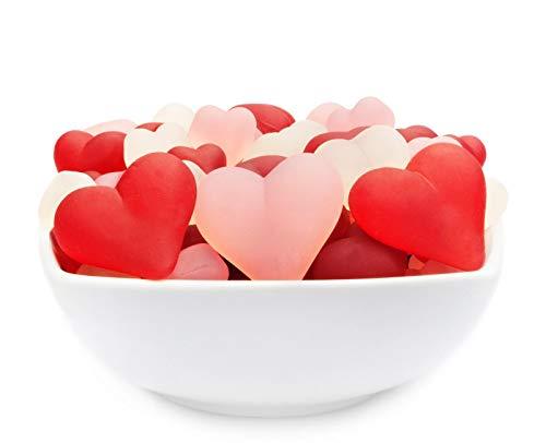 1 x 700g Fruchtsaftgummi in Herzform Gummibonbon Gelatinefreie Stärke Herzen vegetarisch glutenfrei laktosefrei romantisch