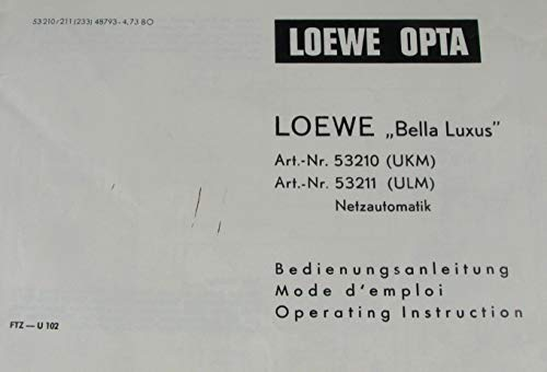 Bedienungsanleitung Loewe