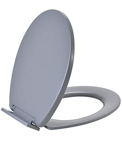 Vinsani Soft Slow Close Round Grey Wc Toilet Seat New in Box