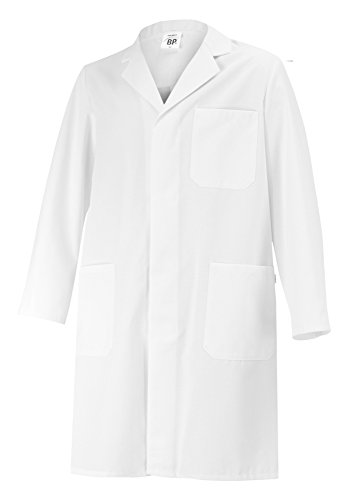 BP 1656 400 unisex Mantel aus strapazierfähigem Mischgewebe weiss, Größe Sn