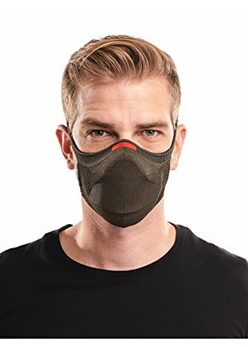 Máscara Esportiva Knit, Fiber, Verde Militar, G