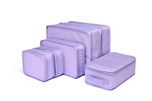 トラベルポーチ アレンジケース 便利グッズ スーツケース整理 出張 旅行 衣類収納 靴 軽量 大容量 6点セット 洗面道具入れ (ラベンダー)