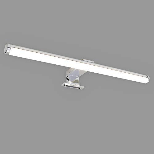 Briloner Leuchten LED Spiegelleuchte, Spiegellampe Chrom, 6 Watt, 600 Lumen, 4.000 Kelvin, IP23, 6 W