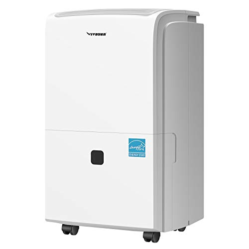 VIVOSUN 3,200 Sq. Ft. Dehumidifier Energy Star Rated for Home Basement Bedroom with Draining Hose, Auto-Defrost, & Auto-Restart