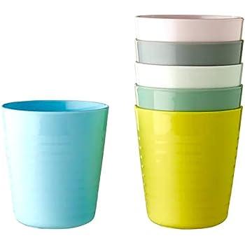 Ikea Plastic Polypropylene Mug - 6 Pieces, Multicolour