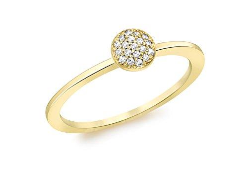 Carissima Gold Anillo de mujer con oro amarillo 9 K (375) y diamante - Tamaño 11