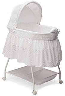 c583d2e5774 Delta Children Sweet Beginnings Nursery Products Deluxe Gliding Bassinet
