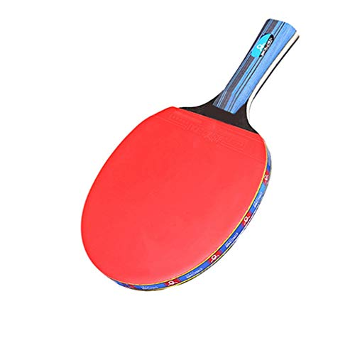 New SDSDEK Professional Pingpong Racket Wood Rubber Anti-Skid Handle Table Tennis Paddle with 2 Ball...
