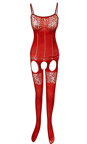 HOT DREAM Sexy Lace Ver A Través De Elástica De La Calcetería Suspender Bodystocking
