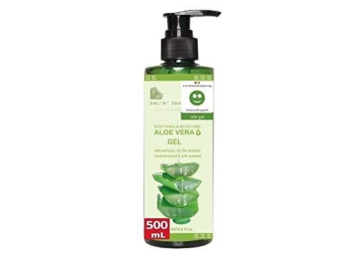 Aloe Vera Gel 99.75% Vegan 500ml XXL Familienpackung | KOSMETIKANALYSE: SEHR GUT | Feuchtigkeitscreme für Haut, Haare & Körper | Premium Qualität | Aloe Secret Essentials
