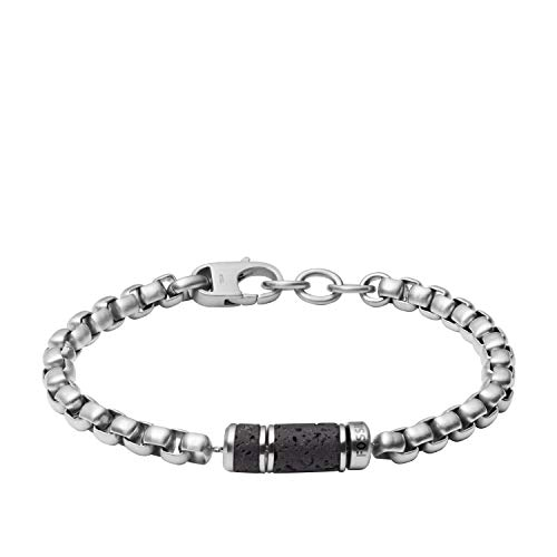 Fossil - Pulsera de cadena para mujer de acero inoxidable plateado, JF03687040.