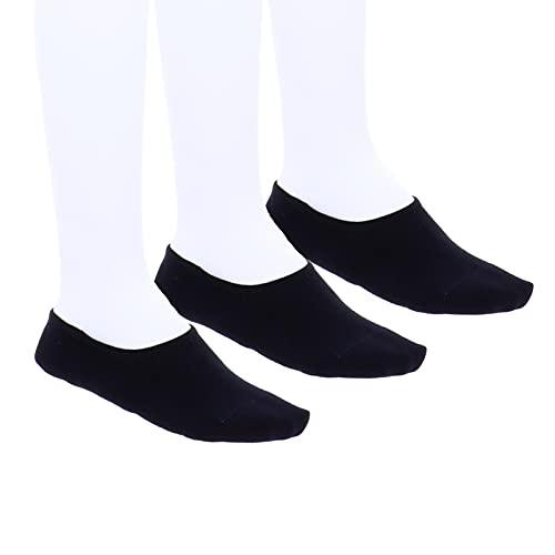 BIRKENSTOCK Lot de 3 paires de chaussettes invisibles en coton pour homme Noir