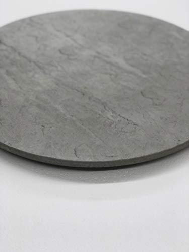 Concrete Resurrection Concrete Cement Lazy Susan Unique, Hand Crafted, Gray, Turntable, 360 Degree Swivel, Made in The USA, Home Decor (21-1/2' Diameter)