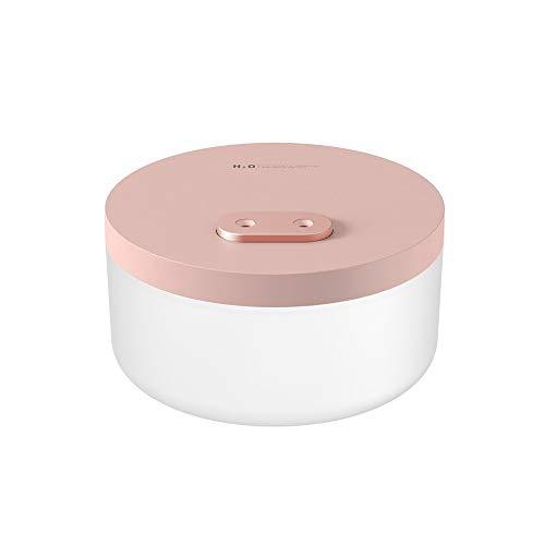 Sdvklly Humidificadores para el hogar 1L Humidificador de Aire de Doble pulverización Dual 2000MAH USB Recargable Recargable Ultrasonic Aroma Agua Difusor Difusor Luz romántica (Color : Pink)
