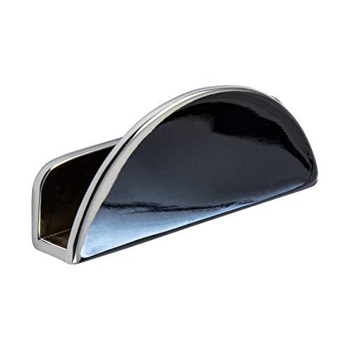 Gedotec Glas-Türgriff Schrank Möbelgriffe für Glastüren - Spiegel-Türgriff zum Klemmen - Rovy | Aufsteckgriff für Glasdicke 6 mm | Metall Chrom poliert | 2 Stück - Design Ziehgriffe für Schranktüren