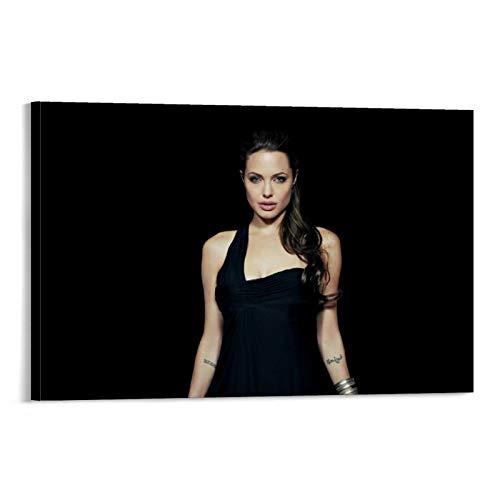 Póster de la lona de DRAGON VINES Angelina Jolie Tomb Raider Lara Croft para decoración de la pared de la universidad de 30 x 45 cm