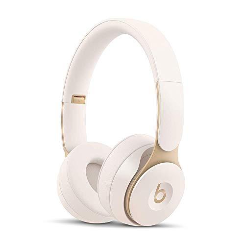 Beats Solo Pro Wireless ワイヤレスノイズキャンセリングヘッドホン-Apple H1ヘッドフォンチップ、Class 1 Bluetooth、アクティブノイズキャンセリング機能、外部音取り込みモード、最長22時間の再生時間 - アイボリー
