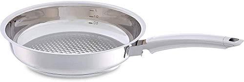 Fissler crispy steelux premium / Edelstahl-Pfanne (Ø 24 cm) Bratpfanne-unbeschichtet, krosses und fettarmes braten - alle Herdarten auch Induktion