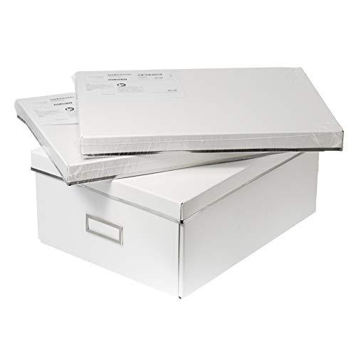 3 cajas grandes de almacenamiento A4 (27 x 35 x 15 cm), color blanco