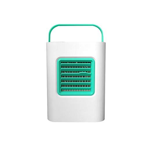 SHE.White Mini mobiles Klimagerät USB Tragbar Luft Conditioner Cool Kühlung Zum Schlafzimmer Kühler Ventilator für Zuhause, Büro, Schreibtisch und Camping - Schwarz Rosa Blau Grün