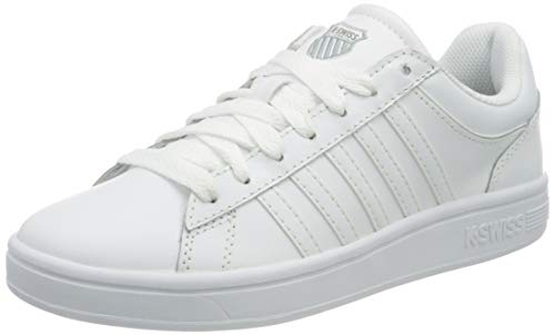 K-Swiss Damen Court Winston Sneaker, White/White, 41.5 EU