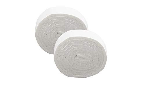 LouMaxx Filzband - Filz selbstklebend 19x1000 mm, 2 er Set weiß – Filzband selbstklebend - Klebefilz Filzrolle - Selbstklebender Filz - Filzstreifen selbstklebend zum zuschneiden