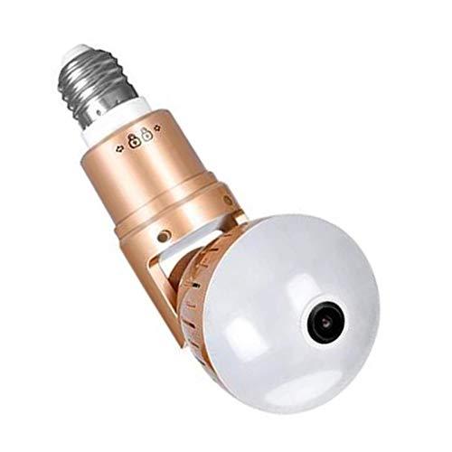 Cámara IP bombilla de luz inalámbrica 3MP HD 360 grados luz panorámica para el hogar Cctv seguridad videovigilancia cámara Wifi (color: 32GB)