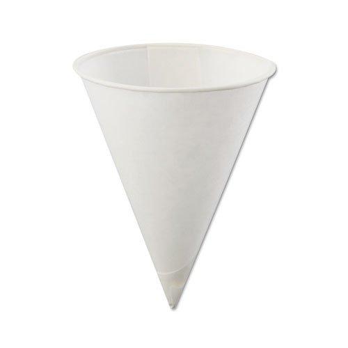 KONIE - Vasos de papel con diseño de cono, color blanco
