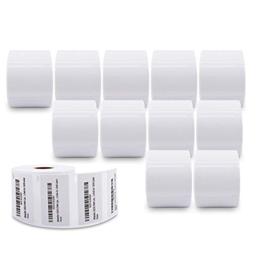 """iMlabeller 2-1/4"""" x 1-1/4"""" Medium Multipurpose Labels Compatible with 30334 DYMO Labels, FBA SKU Barcode and Address Labels Work with DYMO 400 450 Turbo Printer, 12 Rolls for 12000 Labels"""