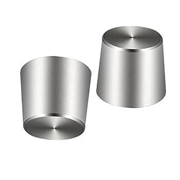 Replacement Titanium Inserts Bowl kit for Peak Bowl Universal Cap Wax Tool Accessory  2 Pack - No Quartz and Ceramic