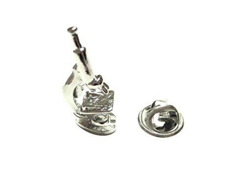 Kiola Designs Silver Toned Scientific Microscope Lapel Pin