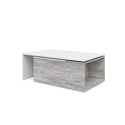 Vicco Couchtisch 60x100 cm Wohnzimmertisch Beistelltisch Kaffetisch Holztisch +++ INKL DREHBARER Platte UND EXTRA STAURAUM +++
