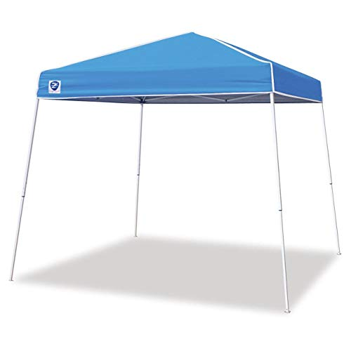 Z-Shade 10 x 10 Foot Angled Leg Instant Shade Outdoor Canopy Tent Portable Shelter with Durable Steel Frame and Carrying Bag, Caroline Blue