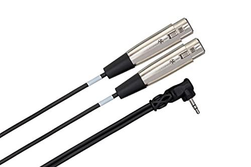 Hosa CYX402F - Cable en Y (3,5 mm, TRS-XLR3 hembra, 60 cm)