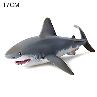xiaokeai Lifelike Shark Shaped Toy Realistic Motion Simulation Animal Model for Kids Children