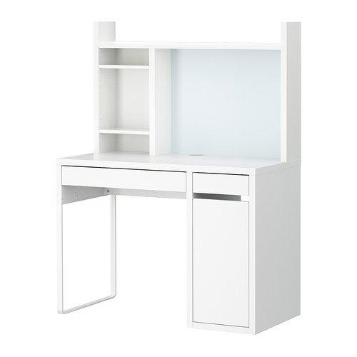 Micke, estacion de trabajo para ordenador, color blanco