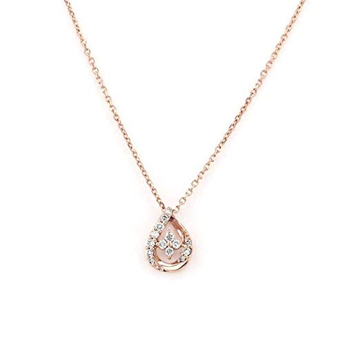 エステール K18 ピンクゴールド ダイヤモンド しずく ネックレス【ピンクゴールド/40.0cm】