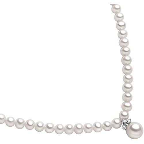Collana Da Donna Di Comete In Oro Bianco E Perle elegante cod. FWQ 127
