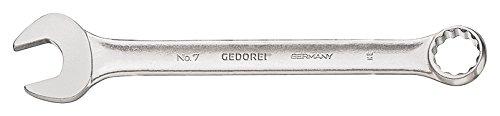 GEDORE Ringmaulschlüssel UD-Profil 24 mm, Hochwertiger Vanadium-Stahl, Blendfreie Optik, Nach DIN 3110, Silber