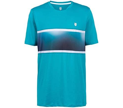 K-Swiss Hypercourt Express Crew 2 - Camiseta de tenis para hombre (talla S)