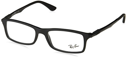 Ray-Ban Mod. 7017 Vista Gafas de Sol, Negro Matte, 54 Unisex^Hombre^Mujer